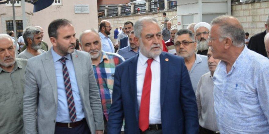 Saadet Partisi büyükşehir adayı  Necdet Gökçınar'ın  saha çalışması