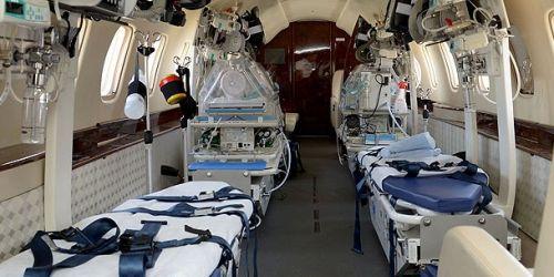 4 sedyeli ambulans uçak