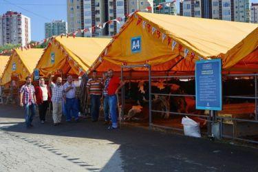 Başakşehir'de kurban kesim alanları hazır
