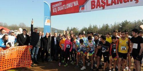 Çekmeköy'de 'Kış Duatlon Yarışları' düzenlendi