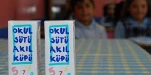 """Sarıyer'de  """"Okul sütü akıl küpü""""  skandalı"""