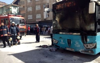 Şişli'de Halk otobüsüne molotof