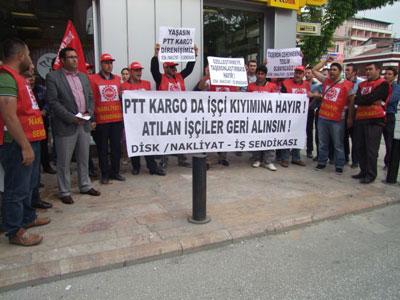 Düzce PTT direnişi sürüyor: 'Taşerona geçit vermeyeceğiz'