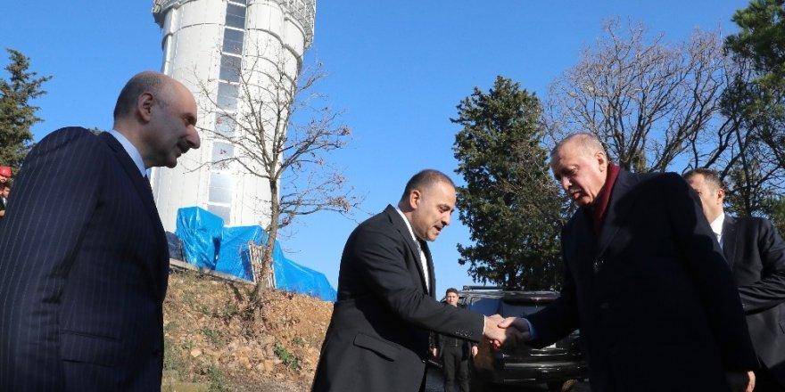 Cumhurbaşkanı Erdoğan Çamlıca Kulesi'nde İncelemelerde Bulundu