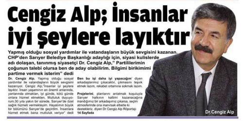 """Cengiz Alp,""""İnsanlar iyi şeylere layıktır """""""
