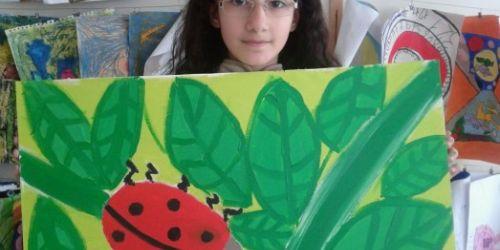 Küçük ressamın ilk sergisi Bakırköy'de