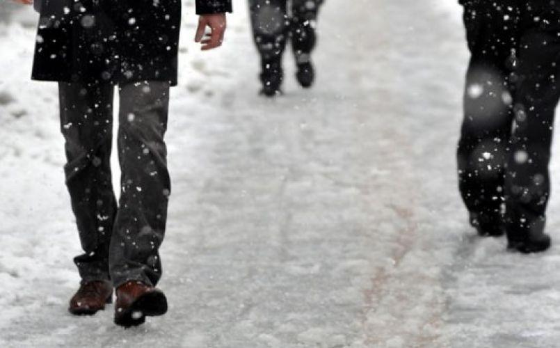 Karda yürürken düşmeyin