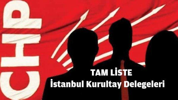 CHP İstanbul Kurultay Delegeleri ( Tam Liste )