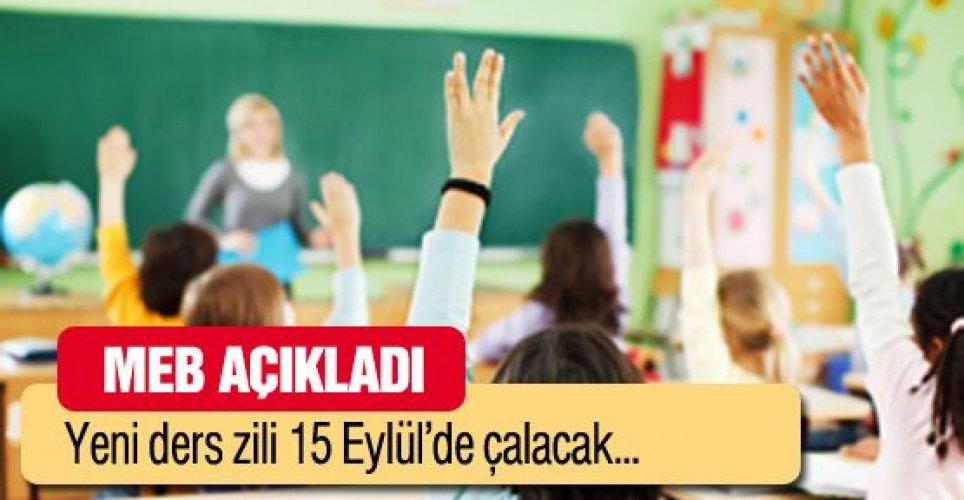 Okulların zili 15 Eylül'de çalacak