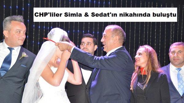 CHP'liler Simla & Sedat'ın nikahında buluştu