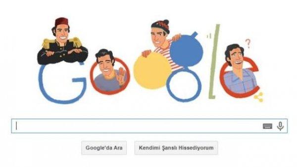Google, Kemal Sunal'ı Unutmadı
