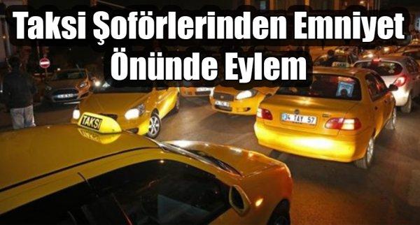 Taksi Şoförlerinden Eylem