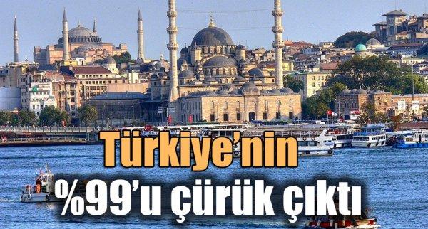 Türkiye'nin %99'u çürük çıktı