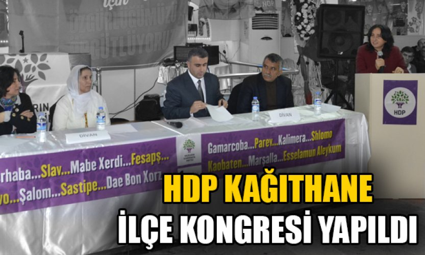 HDP Kâğıthane ilçe kongresi yapıldı