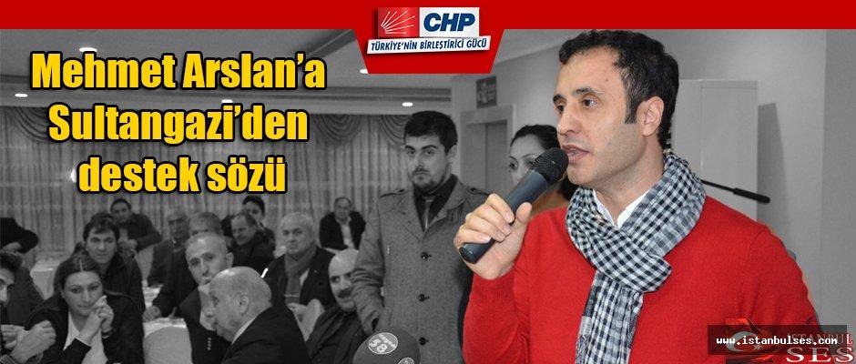 Mehmet Arslan'a Sultangazi'den destek sözü