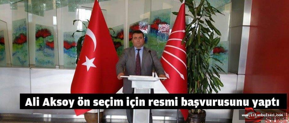 Ali Aksoy ön seçim için resmi başvurusunu yaptı