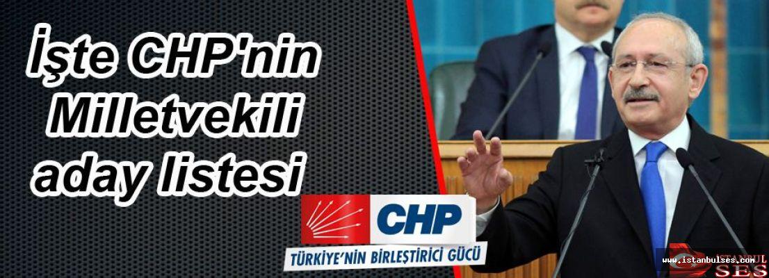 İşte CHP'nin il il aday listesi