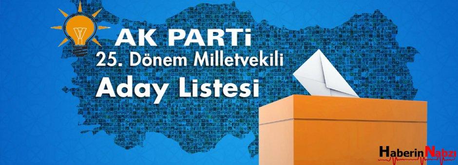 AK Parti 25.Dönem Milletvekili Aday Listesi