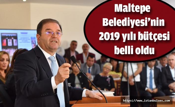 Maltepe Belediyesi'nin 2019 yılı bütçesi belli oldu