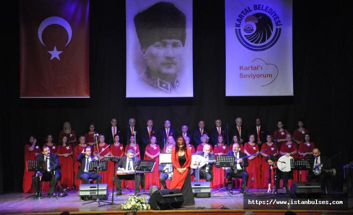 Atatürk'ün sevdiği şarkılar Kartal'da söylendi