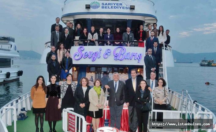 Sarıyer Belediyesi genç diplomatları misafir etti