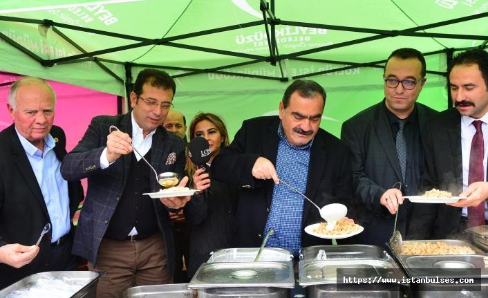 Beylikdüzü'nde mantı festivali'nde 4 bin kişilik mantı dağıtıldı