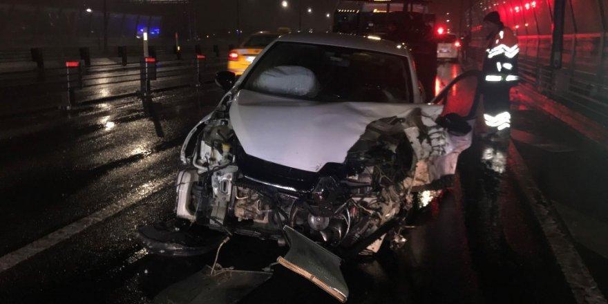Haliç Köprüsü üzerinde kaza: 1 yaralı