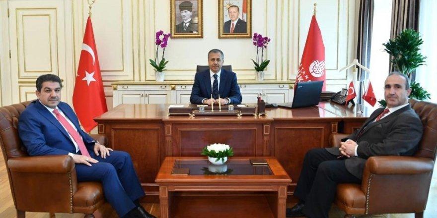 Ali Yerlikaya, AK Parti ve CHP Grup Başkan Vekillerini kabul etti