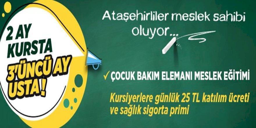 """""""ÇOCUK BAKIM ELEMANI MESLEKİ EĞİTİMİ"""" İÇİN BAŞVURULAR BAŞLADI"""