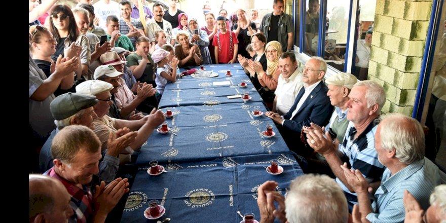 CHP GENEL BAŞKANI KEMAL KILIÇDAROĞLU, İSTANBUL ÇATALCA'DA KÖY ZİYARETLERİNDE BULUNDU
