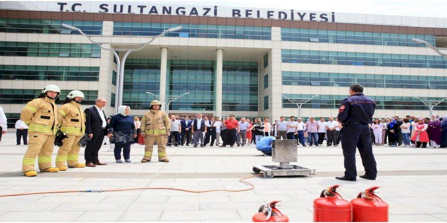 Sultangazi Belediyesi'nde Yangın Tatbikatı