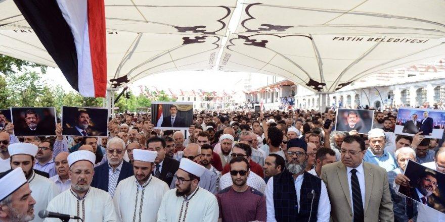 Muhammed Mursi için Fatih Camii'nde gıyabi cenaze kılındı