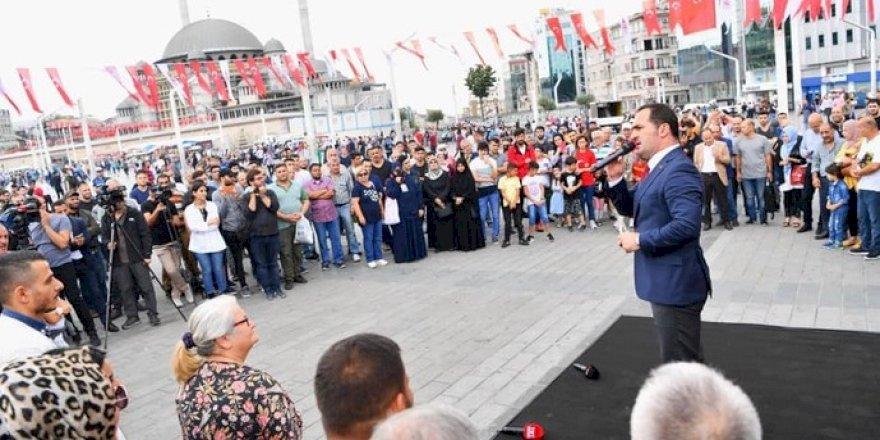 Taksim Meydanı'nda '15 Temmuz Milli Birlik Destanı Sergisi' Açıldı