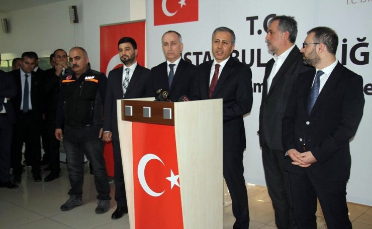 """İstanbul Valisi Ali Yerlikaya: """"126 hane başına ilk yardım olarak bir ödeme yapıyoruz"""""""