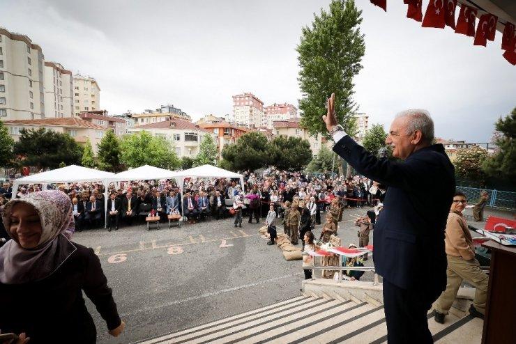Milli Mücadelenin 100. Yılı Kutlamaları Ümraniye'deki Fatih İlkokulu'nda başladı