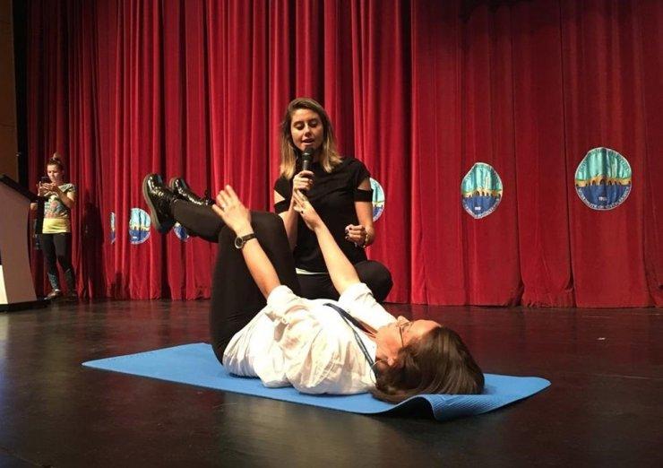 """Büyükçekmeceliler """"Sağlıklı Yaşam İçin Pilates"""" seminerinde buluştu"""