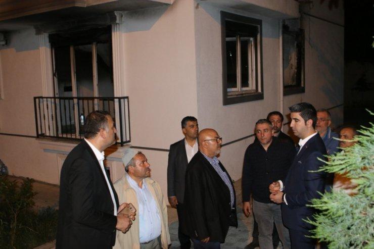 Başkan Gökhan Yüksel'den yangından etkilenen ailelere ziyaret