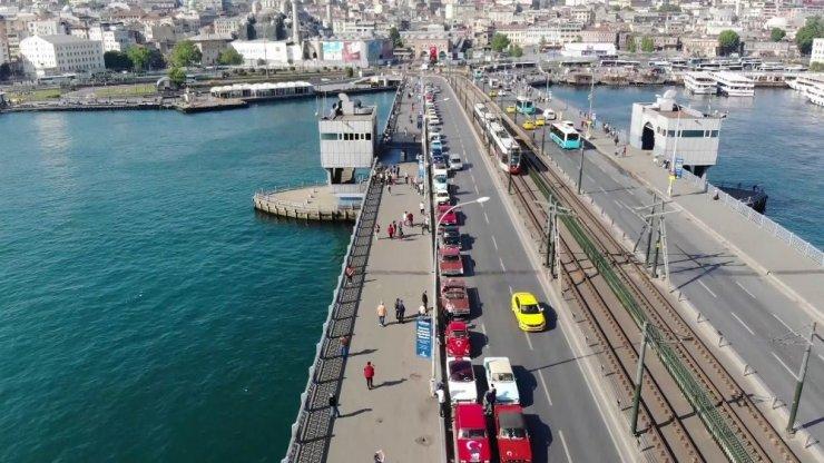 Galata Köprüsü'nde 100. Yıla Özel Şov