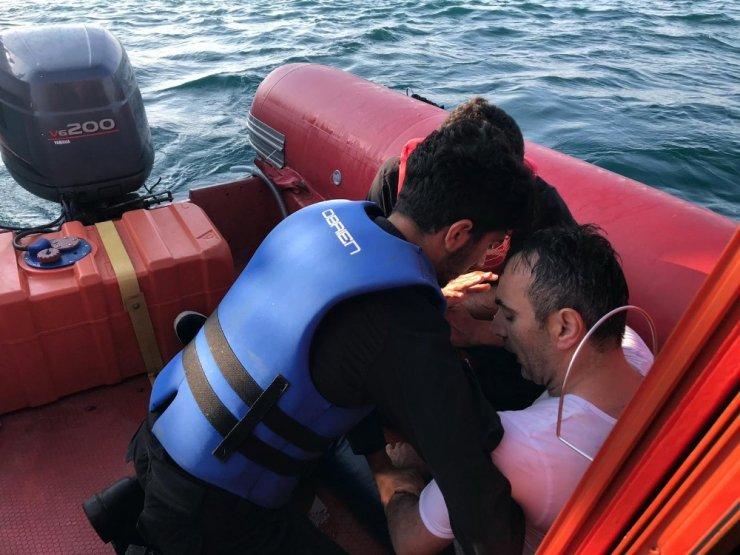 Boğazda denize düşen bir kişi kurtarıldı