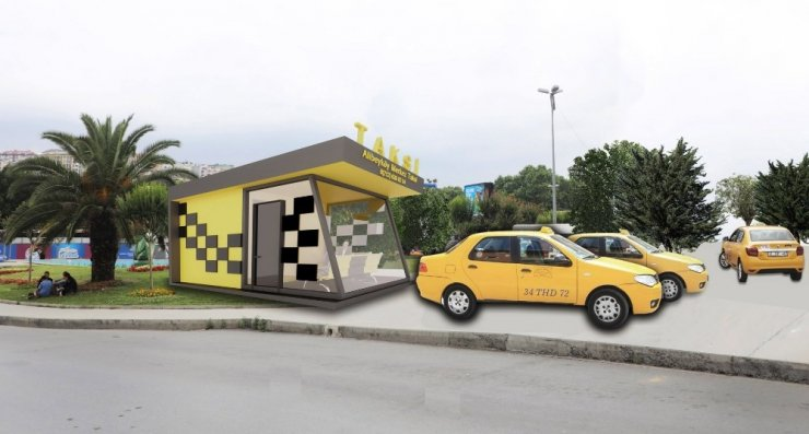 Eyüpsultan'da taksi durakları yenileniyor