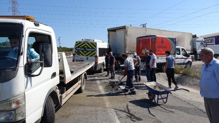 Kurnaköy yolunda feci kaza: 1 ağır yaralı