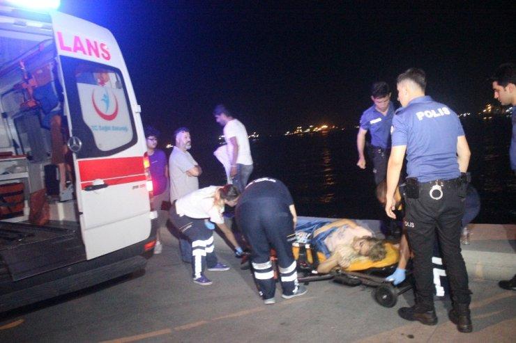 Zeytinburnu Sahilde intihar girişimi