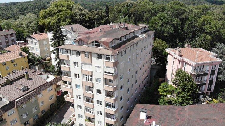 Ana Kolonu Patlayan Bina Havadan Görüntülendi