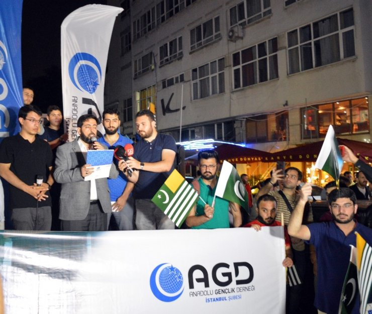 "AGD'den Hindistan Konsolosluğu önünde ""Keşmir"" protestosu"
