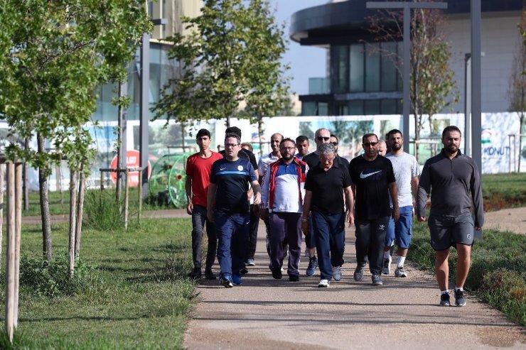 Başakşehirliler Başkan Kartoğlu ile sağlık için yürüdü