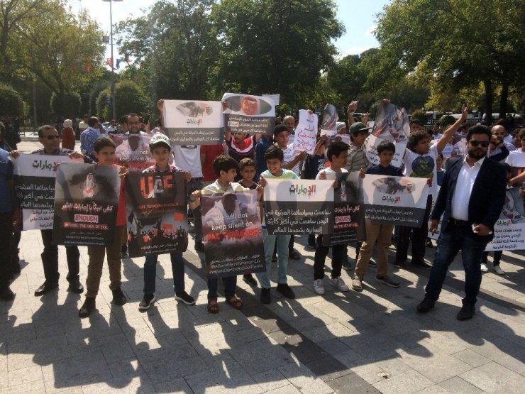 Yemenliler BAE'nin saldırılarını protesto etti