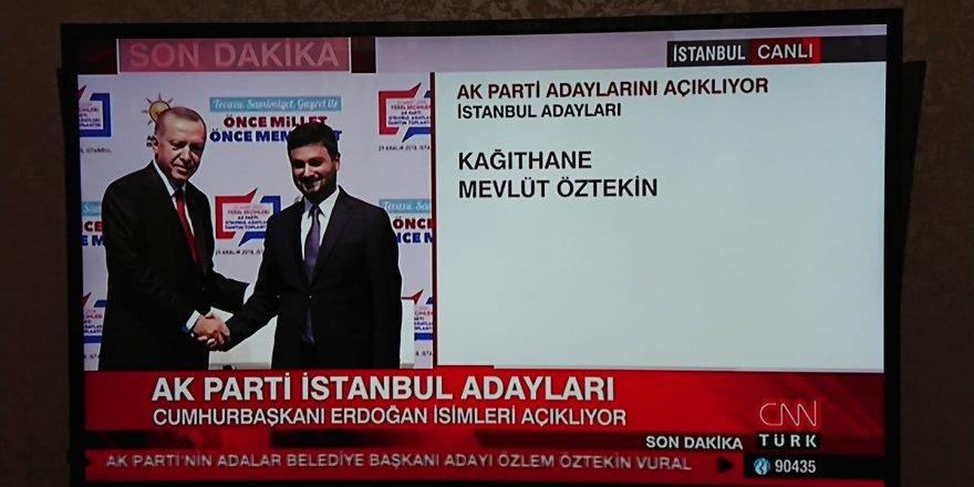Ak Parti Mevlüt Öztekin Belediye başkanlık açıklaması